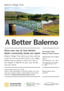 Balerno Community Meeting